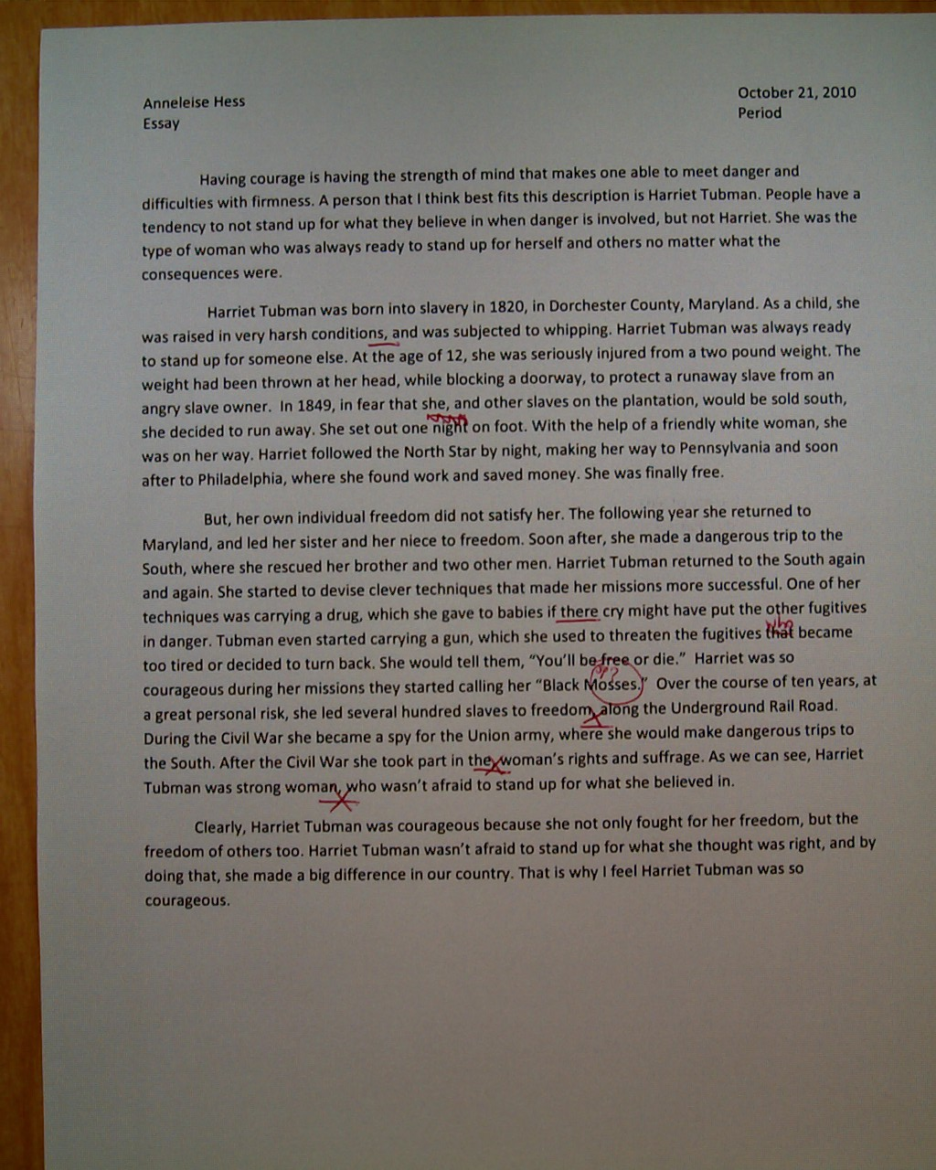 essay on harriet tubman essay on harriet tubman gxart harriet  essays poems and other fun stuff essayannaleise chose to do the essay on courage it is
