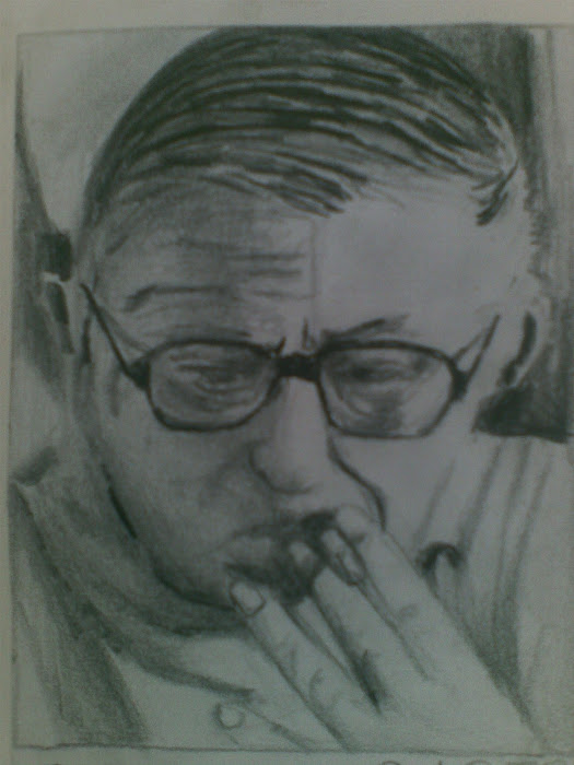 Jean - Paul Sartre / paintings