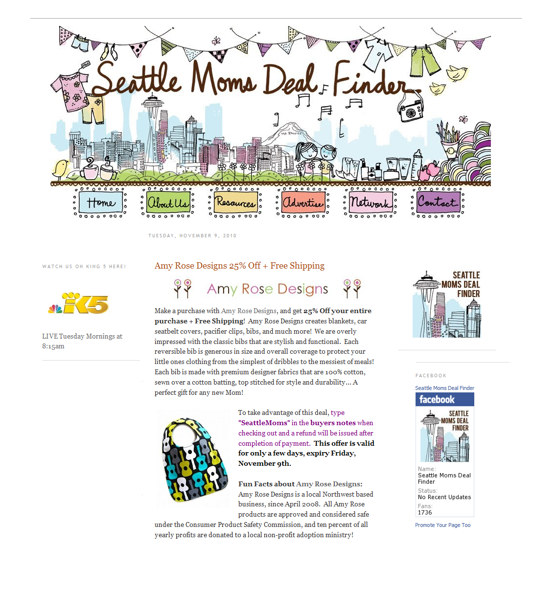 Amy Rose Designs: Seattle Moms Deal Finders King 5 News