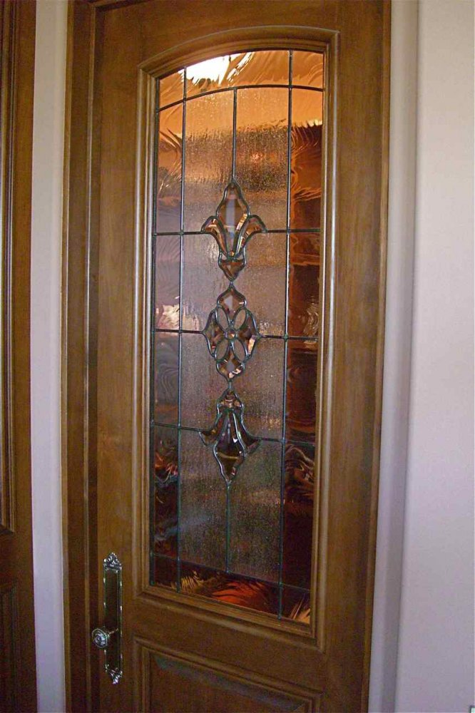 Sans Soucie Art Glass Studios Inc Pantry Door Glass