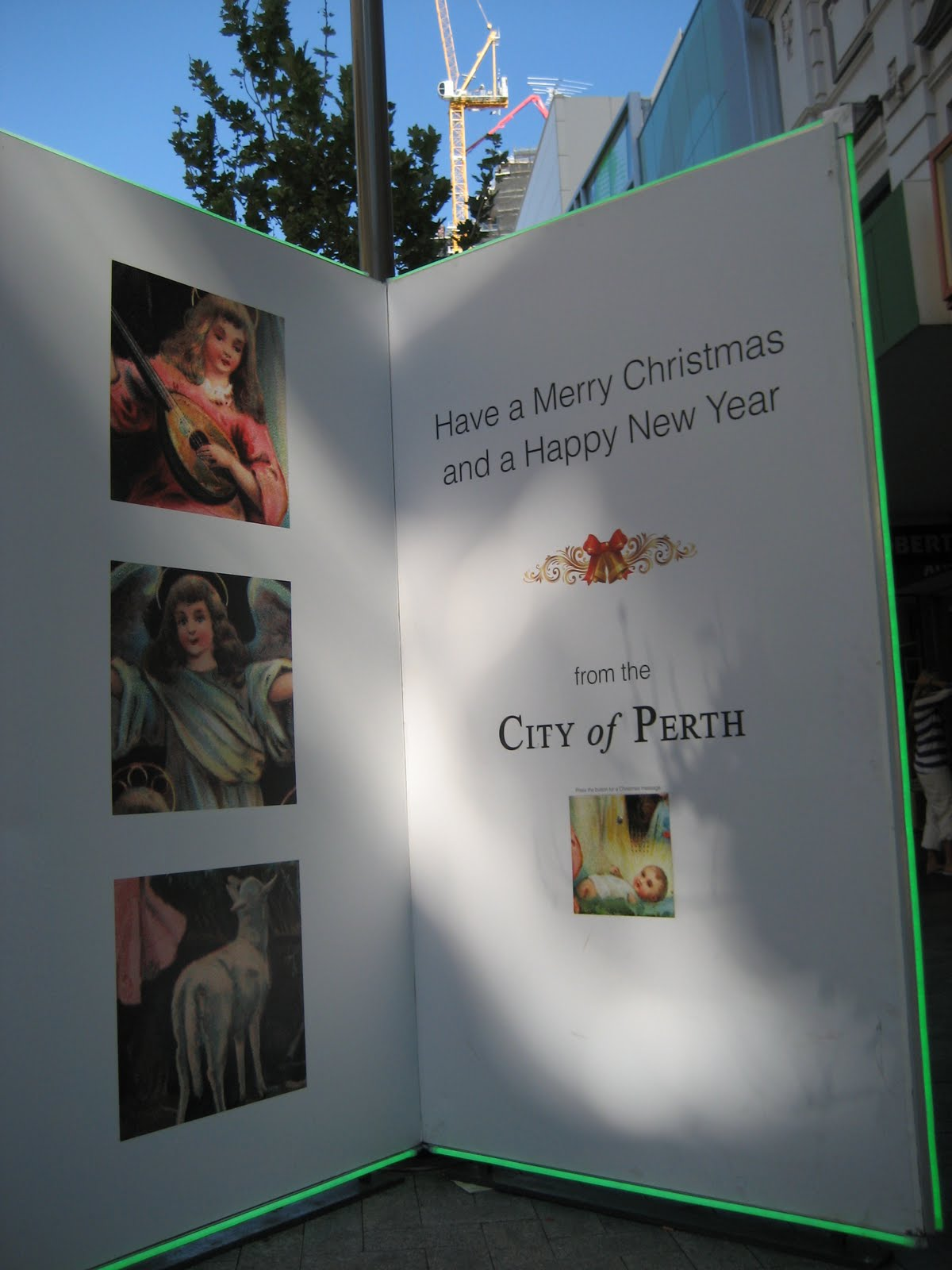 Huge Christmas Card.The Abbotts On Vacation Flat Mrs Abbott Visits Perth City