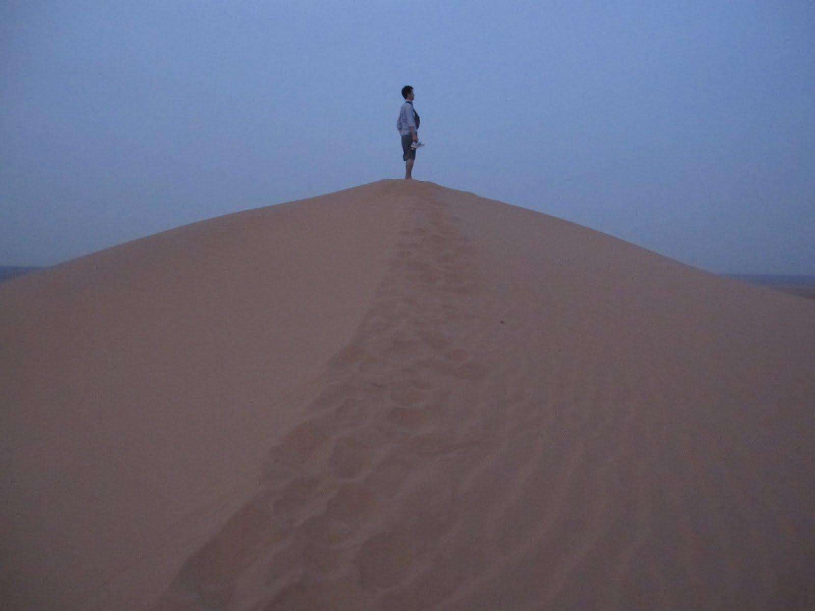 砂丘に登って物思いにふける様子笑 ロンドン留学日誌(仮)