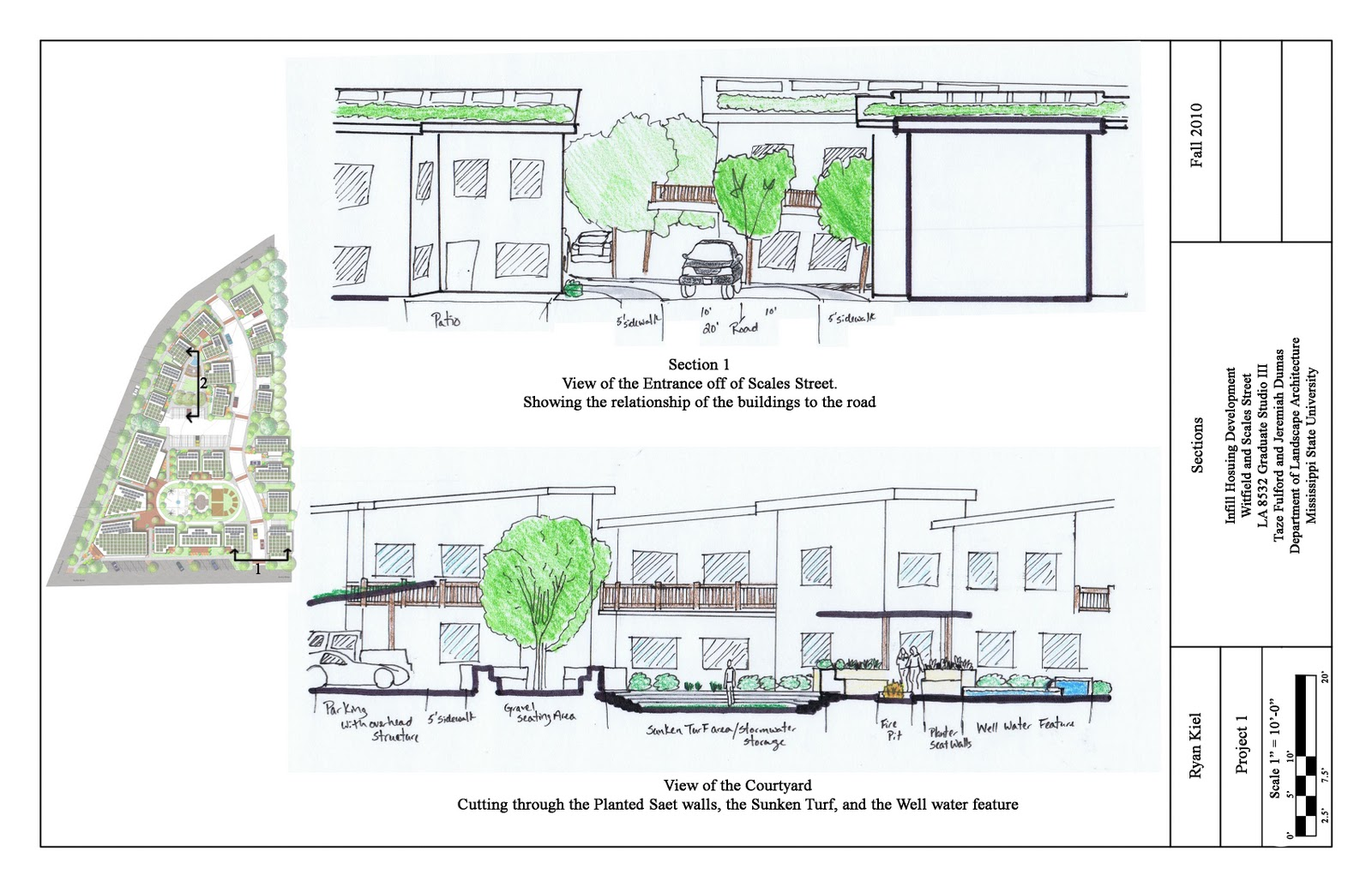 Home Plans With Courtyard Landscape Architecture Sections Of The Master Plan