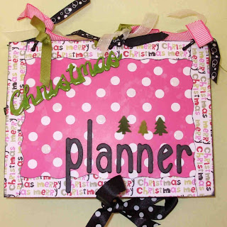 pink Christmas planner