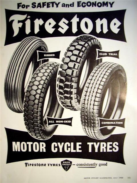 vintage rubber for your cafe racer - firestone tyres ~ return of