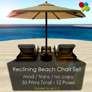 Outstanding Off Brand Furniture In Second Life Reclining Beach Chair Set Pabps2019 Chair Design Images Pabps2019Com