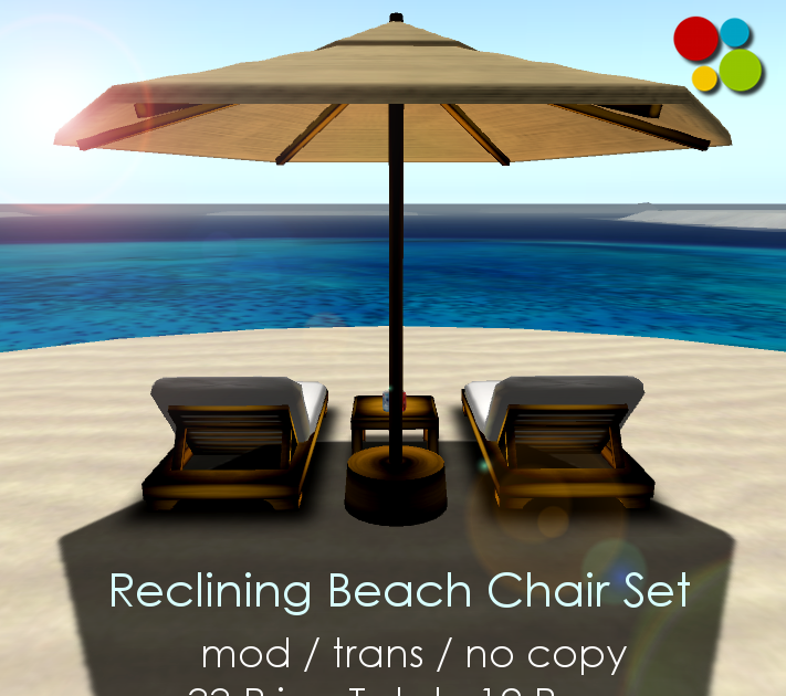 Reclining Beach Chair Set