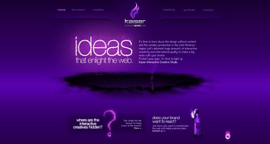 Kaiser Interactive beautiful flash website