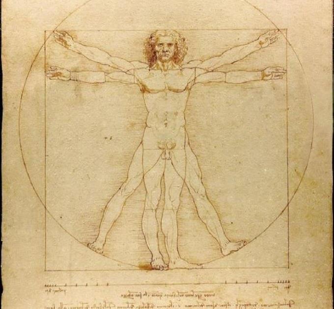Grafis: Leonardo Da Vinci's Vitruvian Man