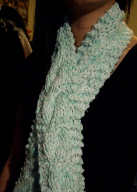 Purllin Double Trouble Chunky Cable Scarf Pattern