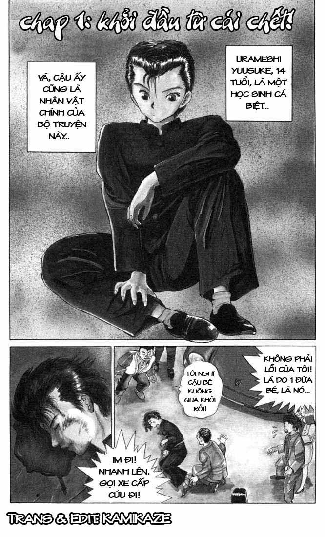 Hành trình của Uduchi chap 001a: khởi đầu từ cái chết trang 1
