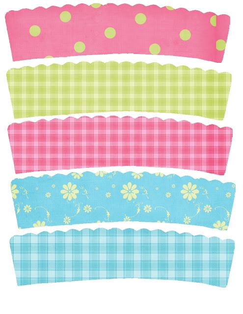 Wrappers para Cupcakes en Divertidos Diseños para Imprimir Gratis.