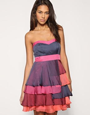 483fbf8eb8f1 Coast Cheryl Spottet Tiered Silk Georgette Dress