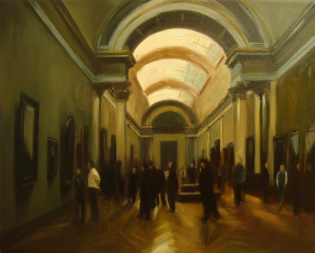 Jonelle Summerfield Oil Paintings Louvre Interior