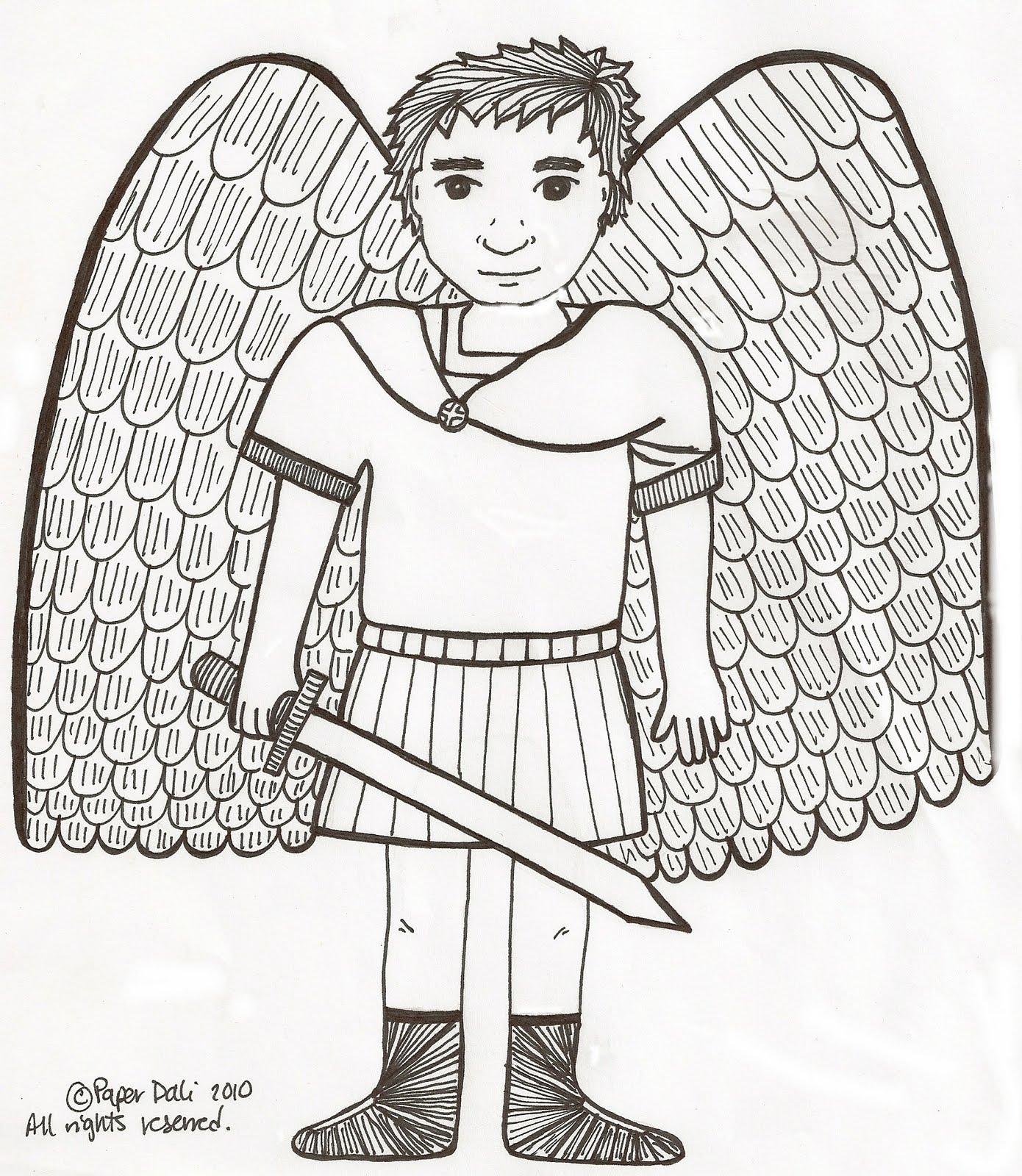 Paper Dali Saint Michael The Archangel El Arcangel San