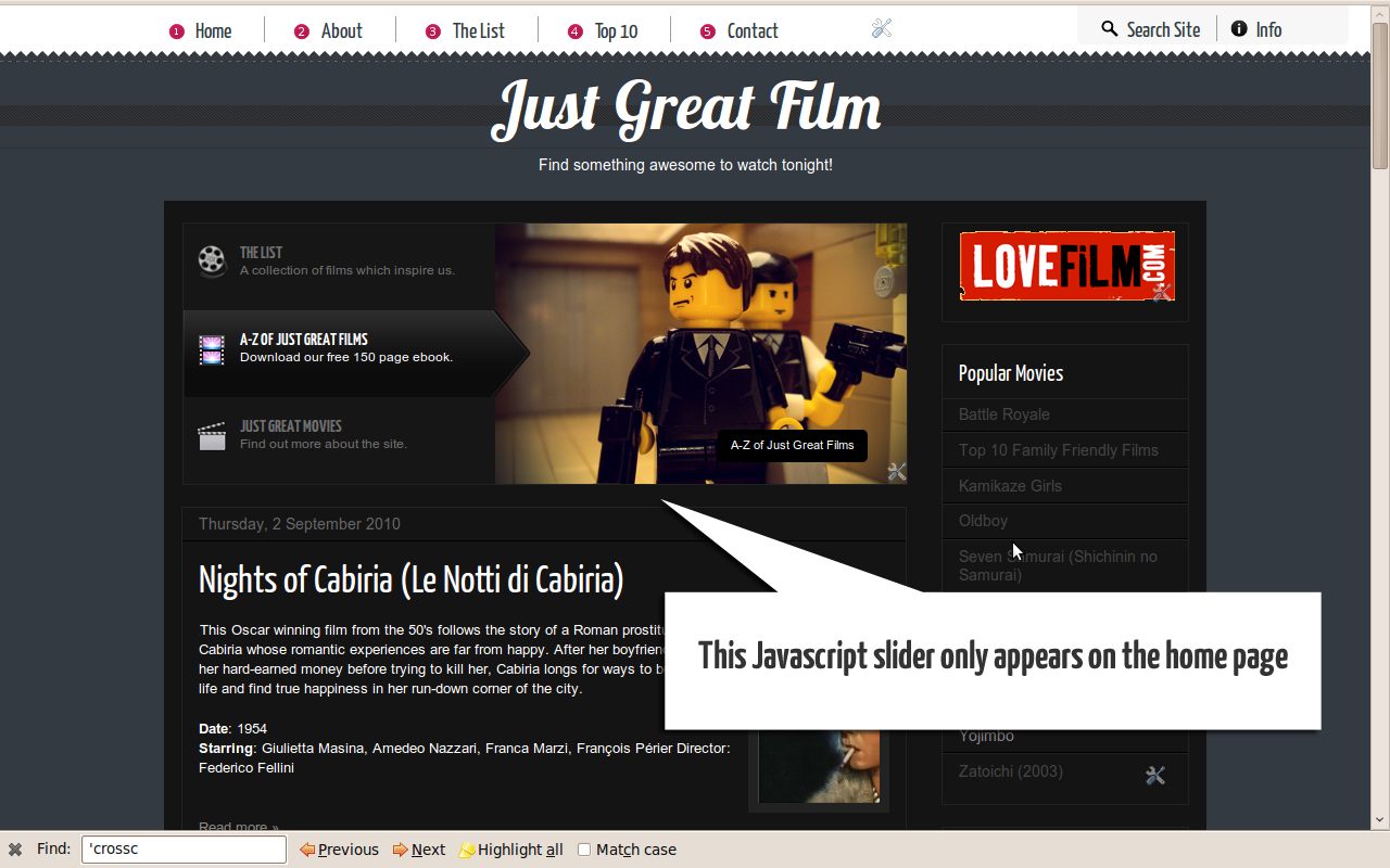 here s an easy way to restrict the display of a gadget to your blog s