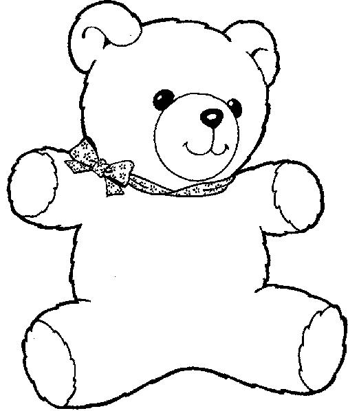 Desenhos Colorir Animais Ursinho Para Pintar Desenhos Para Colorir