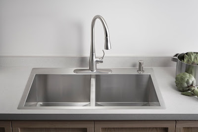 Kohler Worth Single Handle Pull Down Sprayer Kitchen Faucet In Vibrant Stainless
