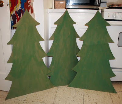 Cardboard Christmas Tree.Filth Wizardry Cardboard Christmas Trees