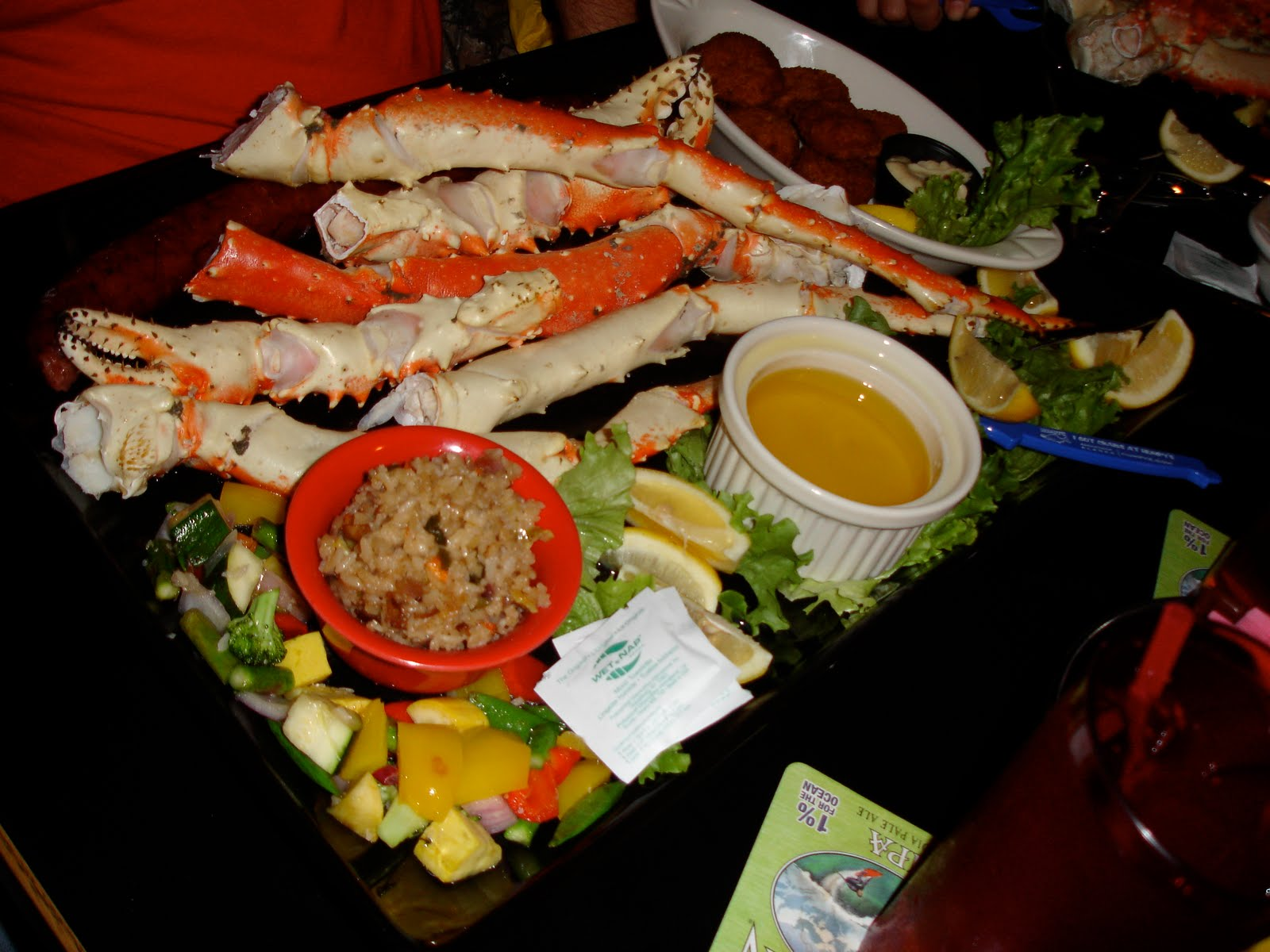 The Kodiak Arrest Challenge Platter at Humpy's Great Alaskan Ale House in Anchorage Alaska