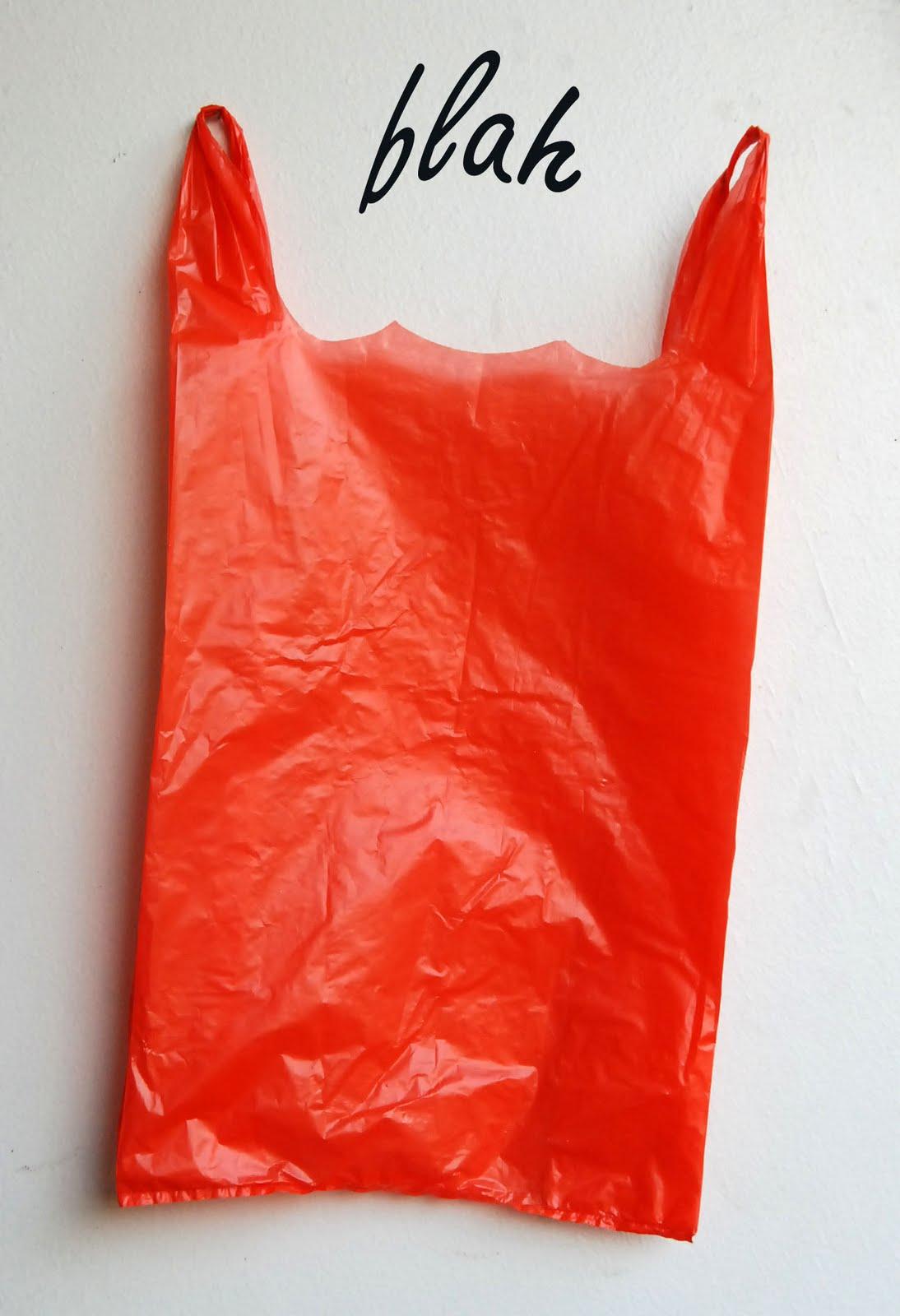 Blah To Tada Challenge Plastic Bags