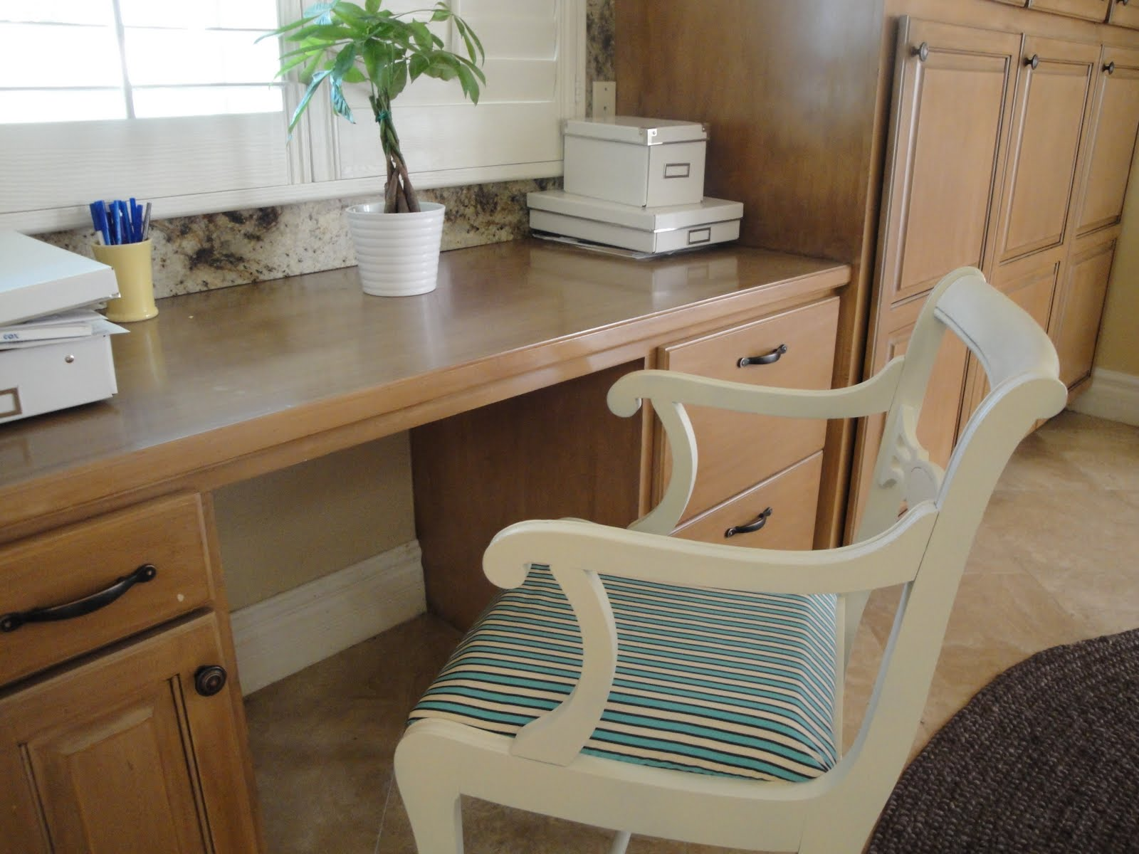 Kitchen Desk - Refinished Chair