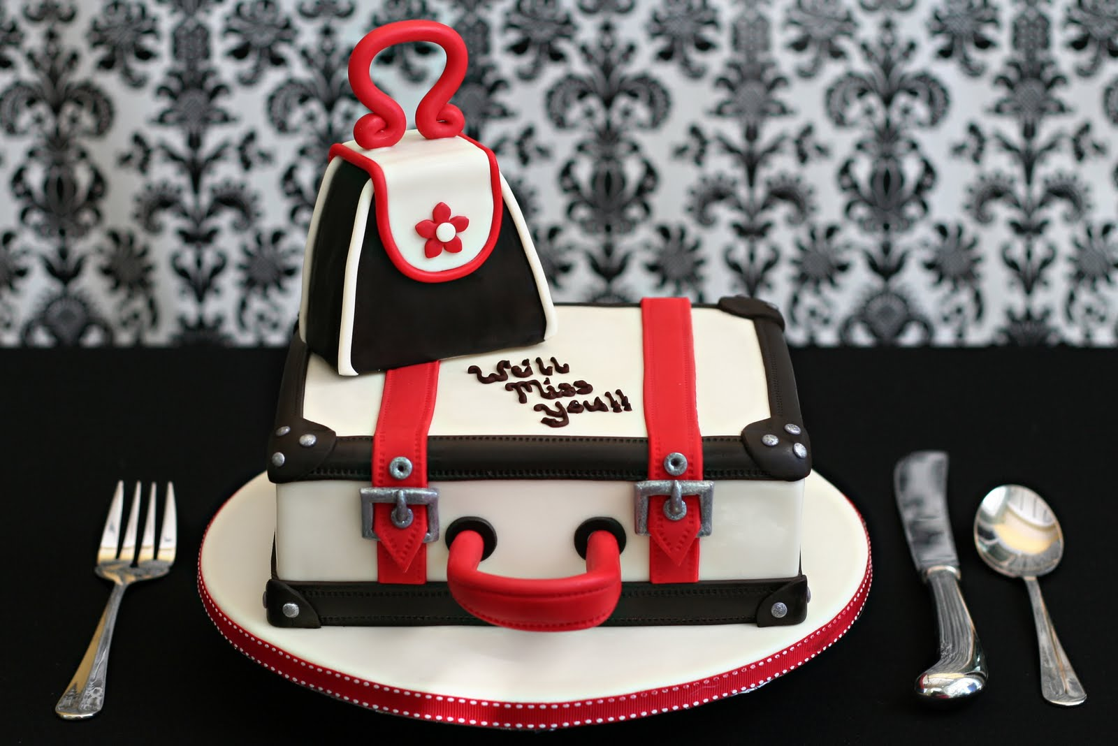 Suitcase Good Bye Cake Jessica Harris Cake Design
