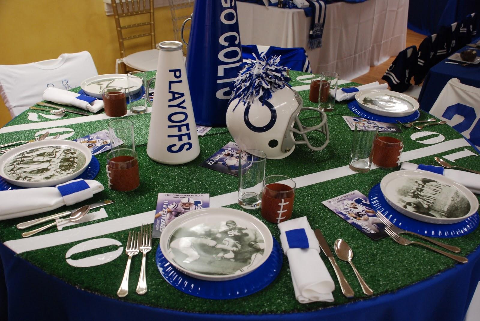 Football Banquet Centerpiece Ideas
