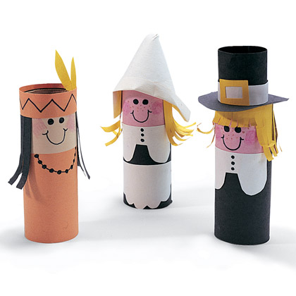 Pilgrim Crafts With Toilet Paper Rolls