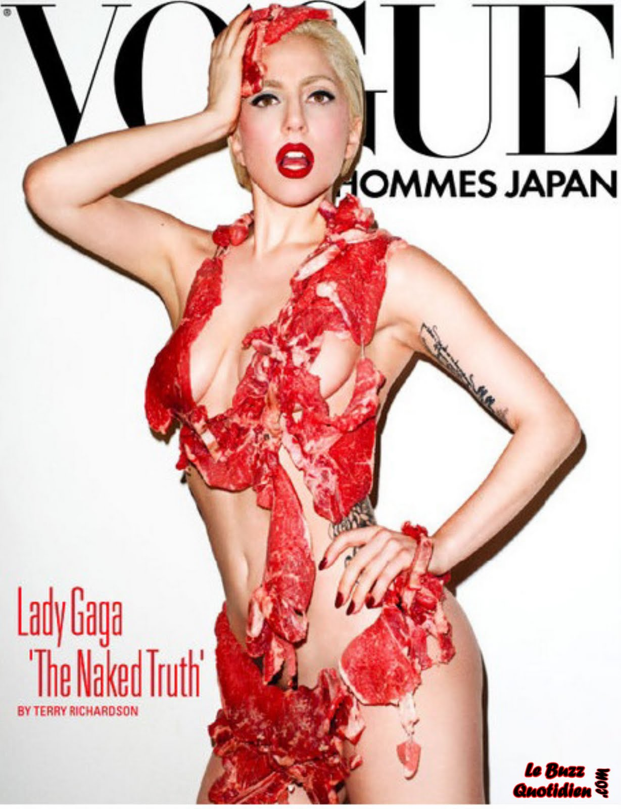 Lady Gaga steak nue Vogue