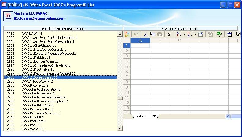 microsoft office list