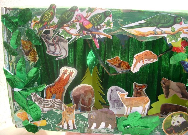 Cards Crafts Kids Projects Jungle Diorama