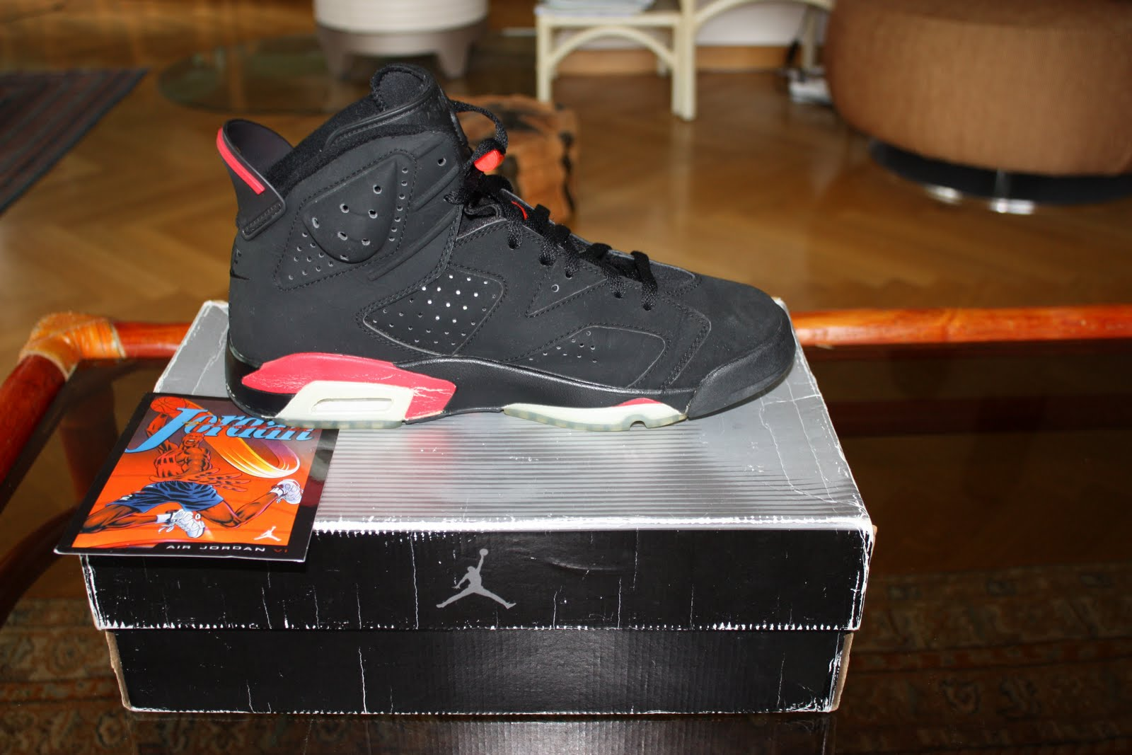 c3b18fc3dcd GORGEOUS KICKS: Other Air Jordan 6 (VI) Retro Black / Deep Infrared ...