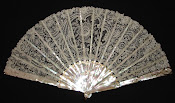 Lace fan with ivory sticks