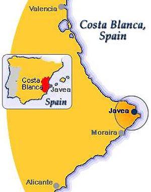 Javea Spain Map.Weddings Javea Spain