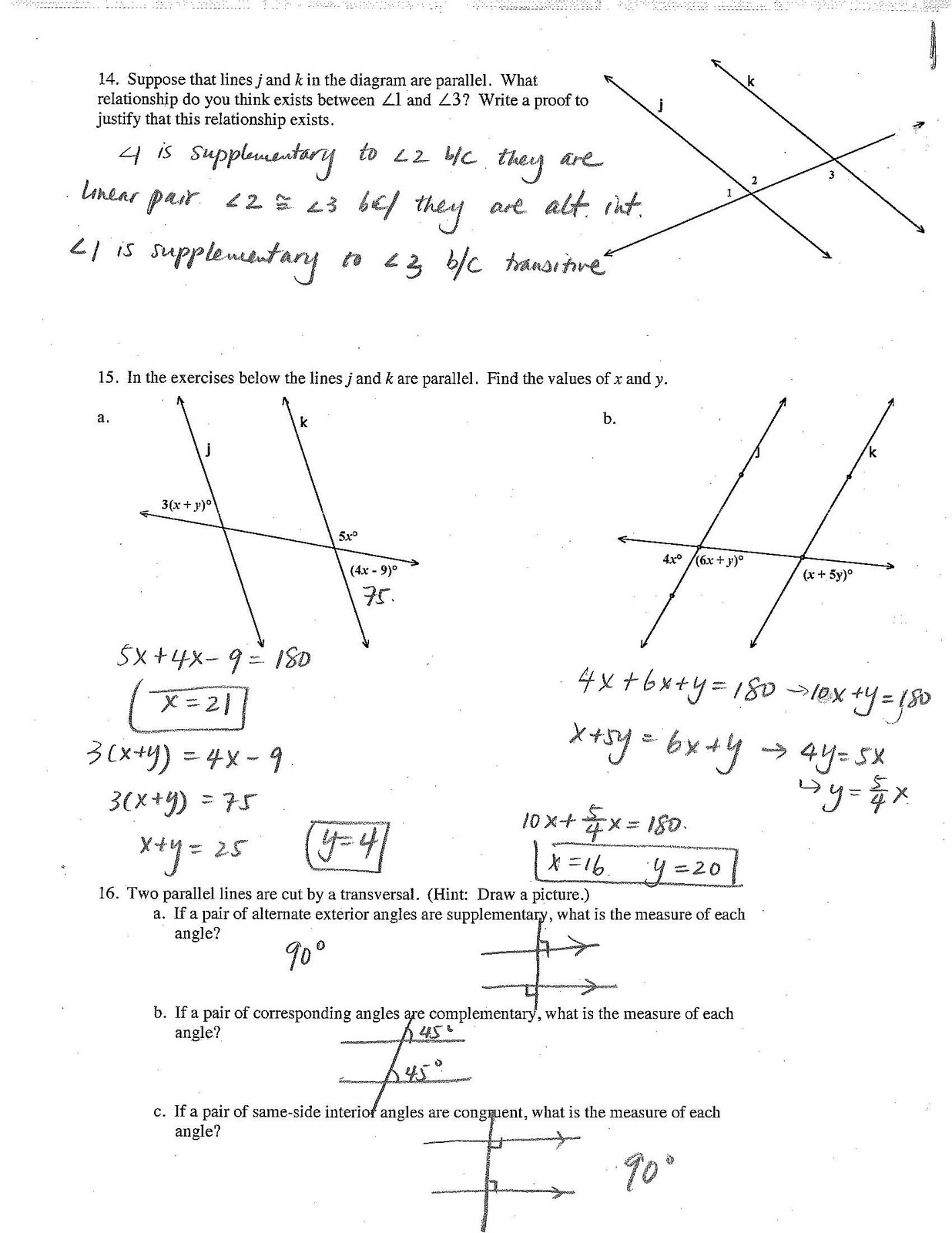 Jiazhen S Geometry Review Sheet Answer Is Here