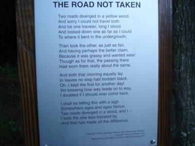 Choices made in robert frosts poem the road not taken