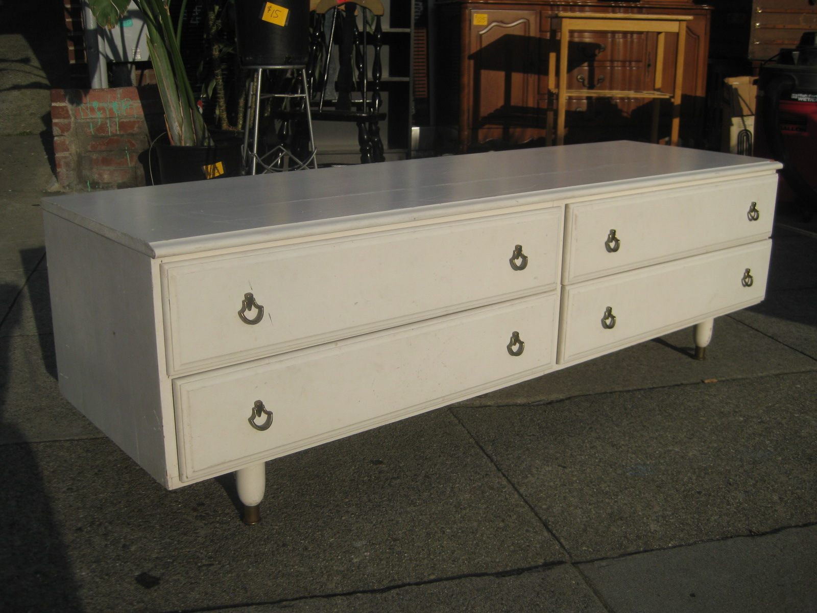 UHURU FURNITURE & COLLECTIBLES: SOLD - Long Low Dresser - $50