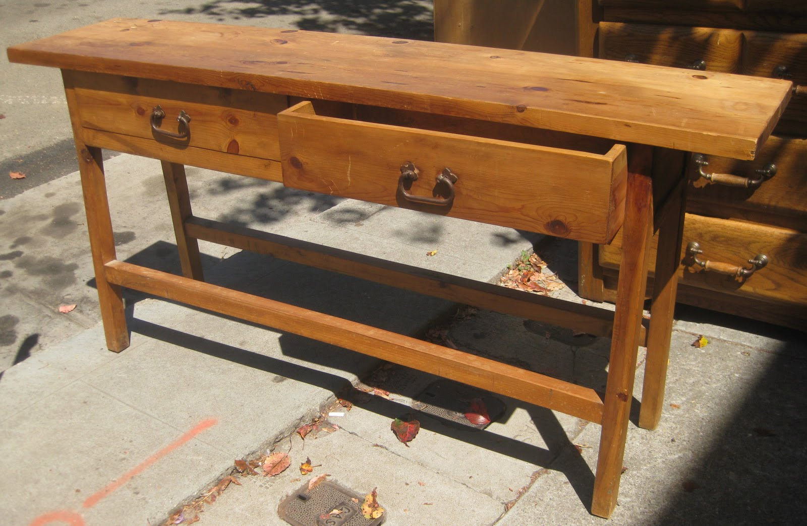 pine sofa tables apartment size uhuru furniture and collectibles sold table 160