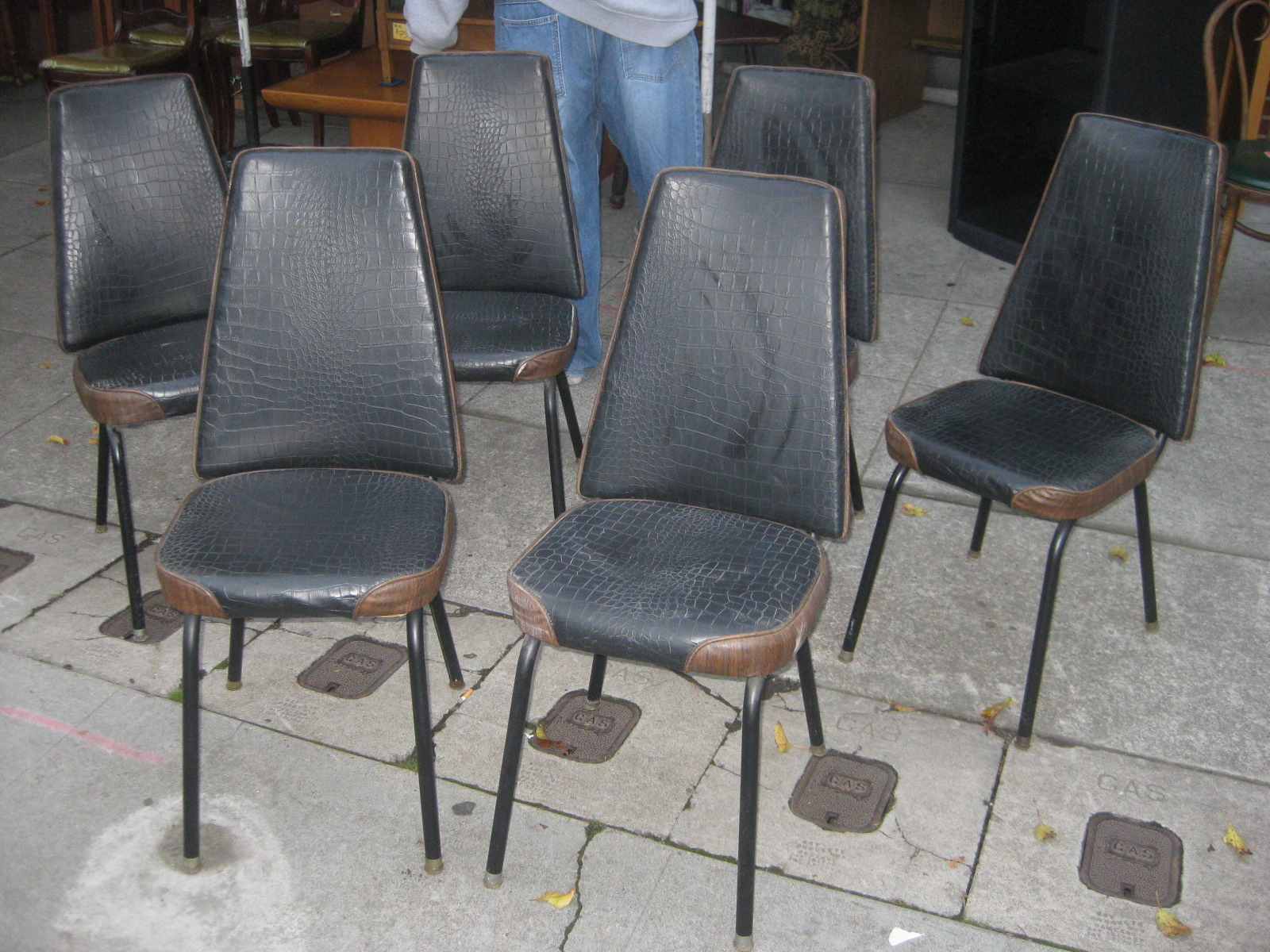 Vinyl kitchen chairs  Furniture table styles