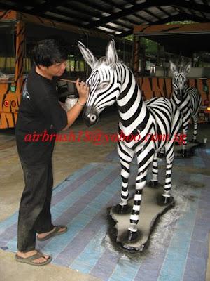 Airbrush Tattoo Body Art Singapore Zoo Z Bar