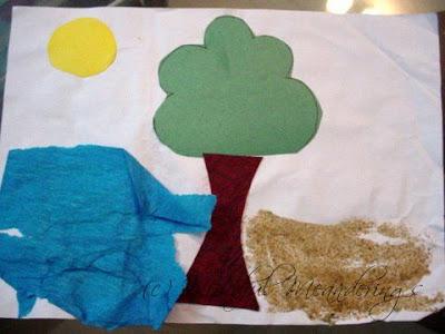 crepe paper art kids