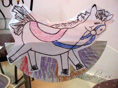 paper plate rocking horse