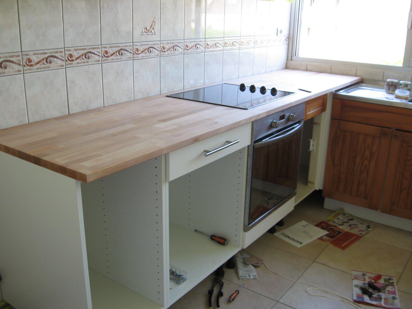 nicotravaux weekend 4 montage cuisine el ments bas et plan de travail. Black Bedroom Furniture Sets. Home Design Ideas