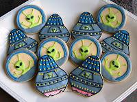 biscotti a forma di alieno
