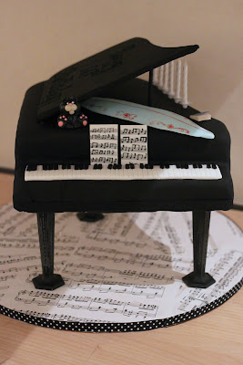 Dotty About Cake 60th Birthday Grand Piano Cake