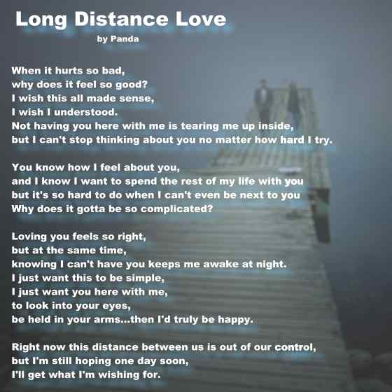 cute poems for a long distance relationship
