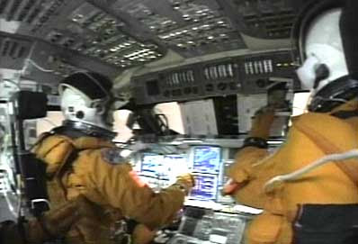 space shuttle reentry cockpit view - photo #5