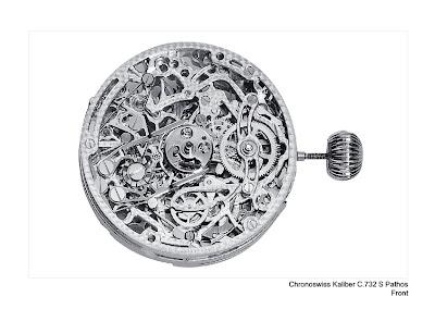 hronoswiss Pathos (1998) - The World's First Skeletonized Split-Second Automatic Chronograph movement
