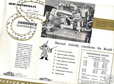 TAKE IT IN TOP!: Shorrock Supercharger Leaflet - Triumph Herald